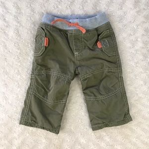Baby Boden Pants 3-6 Months Olive Green Gray
